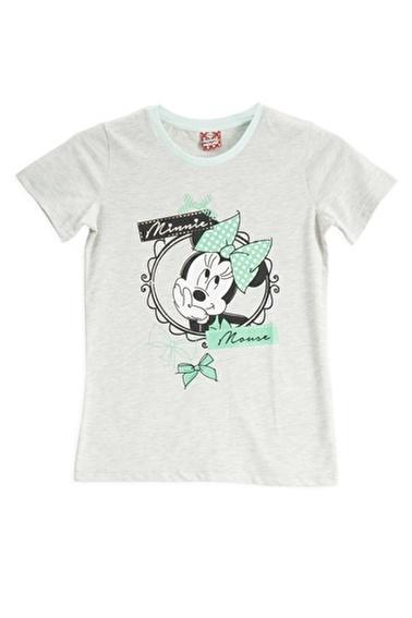 Mickey Mouse Mickey & Minnie Mouse Lisanslı Açık Gri Kız Çocuk T-Shirt Gri
